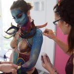 body painting show emajinarium free spirit