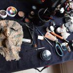 Masque monstre prothèse colle spectacle vivant costumes EMAJINARIUM Free Spirit