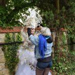 Naja IMAJINARIUM Free Spirit Fraise au Loup tutu blanc body painting corset blanc white coiffe headpiece