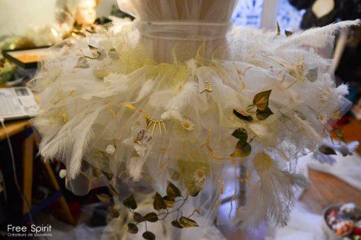 tutu blanc à fleurs