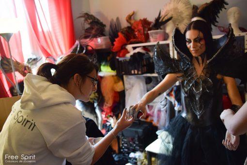 griffes noir pour danseur et danseuse spectacle