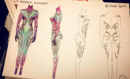 body chart body painting makeup forever paris